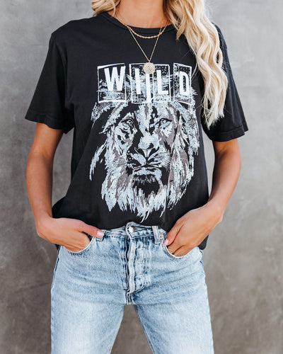Geo Wild Lion Cotton Tee