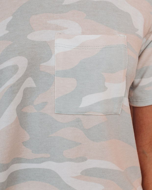 Get Lost Together Relaxed Knit Camo Top