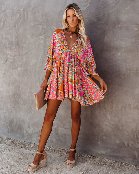PREORDER - Get Your Groove On Babydoll Swing Dress