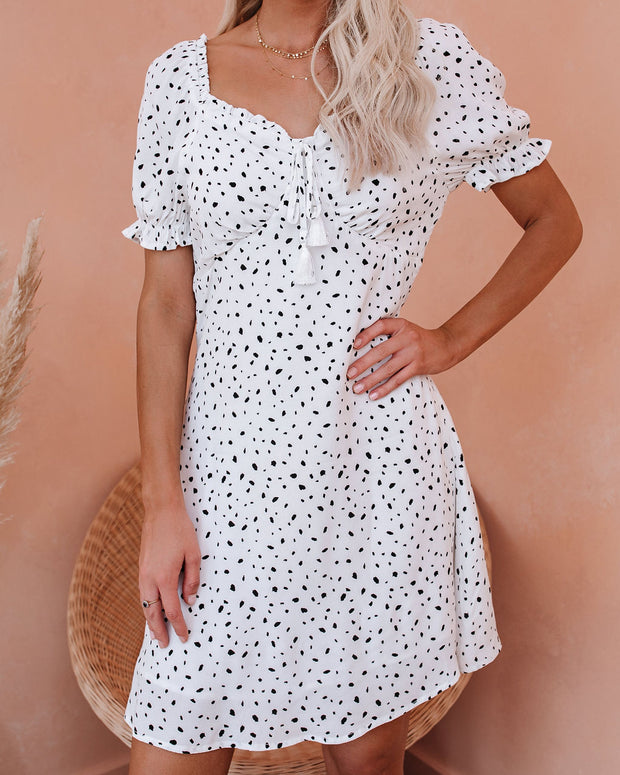 Giada Printed Puff Sleeve Tassel Dress - FINAL SALE