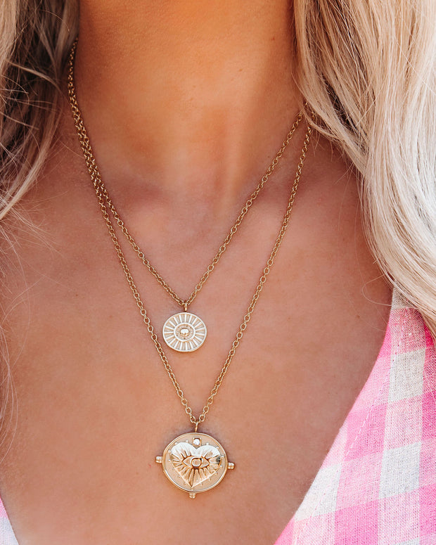 Gigi Double Coin Necklace view 4