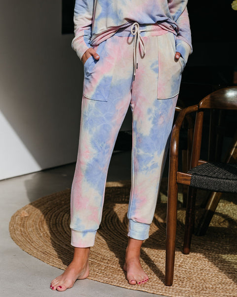 PREORDER - Gigi Tie Dye Pocketed Knit Joggers
