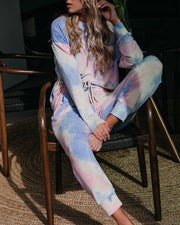Gigi Tie Dye Pocketed Knit Joggers view 2