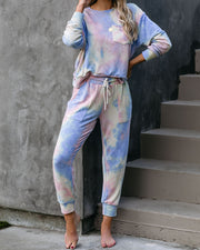 Gigi Tie Dye Pocketed Knit Joggers view 8