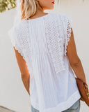 Give A Little Bit Cotton Crochet Top - FINAL SALE