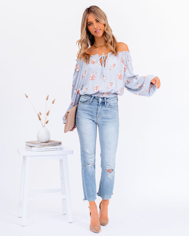 Give Me Love Floral Ruffle Off The Shoulder Top