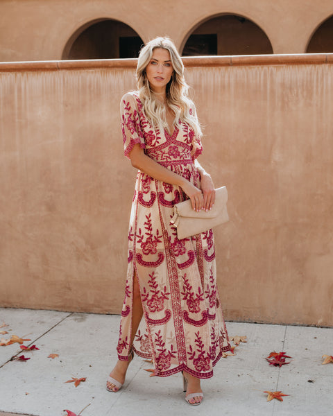 8c0c17dfc8da Shoptagr | Glamour Embroidered Lace Maxi Dress by Vici