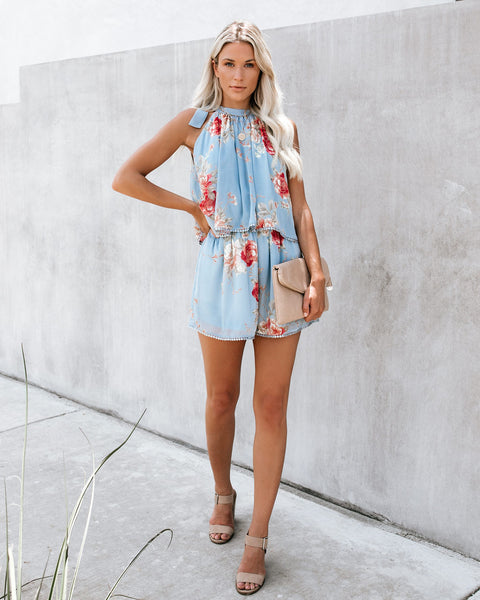 Gloom + Bloom Floral Romper - FINAL SALE