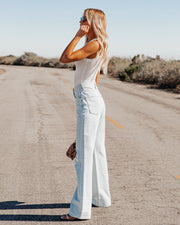 Go-To Ribbed Modal Tank - Off White view 8