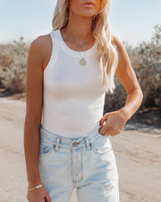 Go-To Ribbed Modal Tank - Off White view 6