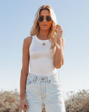 Go-To Ribbed Modal Tank - Off White view 9