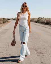 Go-To Ribbed Modal Tank - Off White view 5