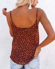 Golden Gate Printed Surplice Cami Tank - Brick