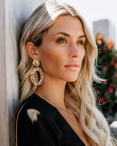 Golden Rule Statement Earrings