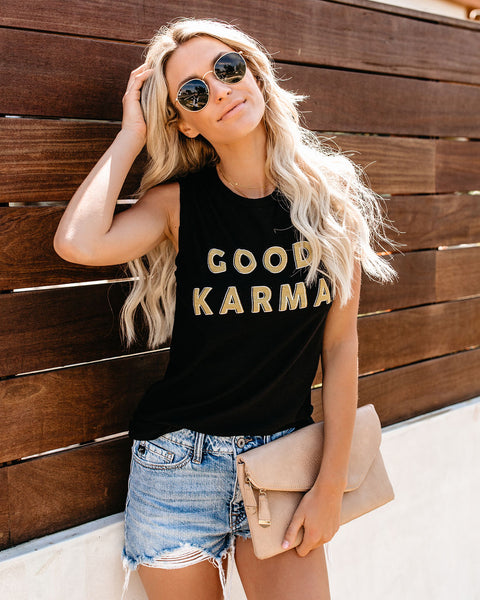 Good Karma Cotton Blend Tank