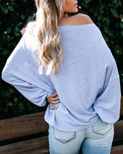 Good Spirits Knit Top - Light Blue