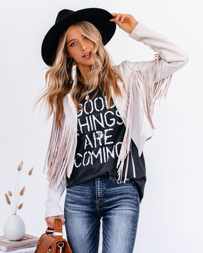 Good Things Are Coming Cotton Tee