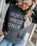 Good Vibes Only Cotton Pocketed Pullover