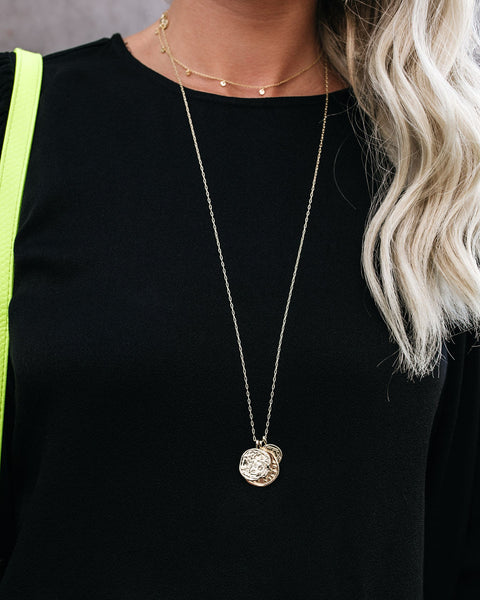 GORJANA - Triple Gold Coin Pendant Necklace