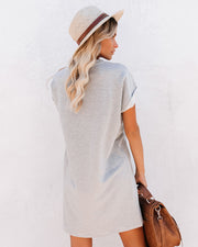 Go The Distance Cotton Blend Striped T-Shirt Dress