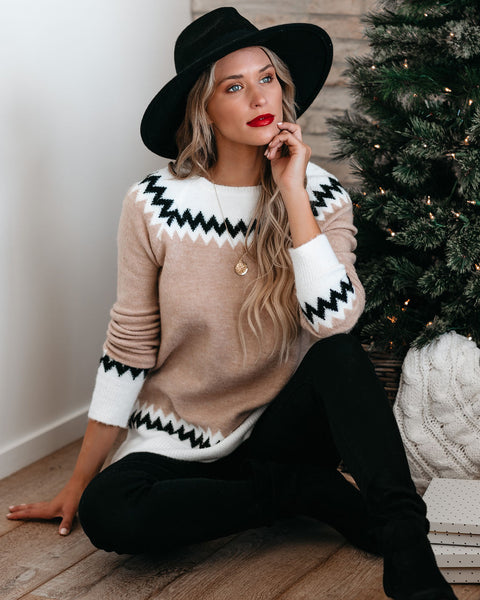 Gracie Chevron Knit Sweater - FINAL SALE