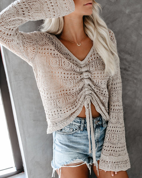 Grand Sand Adjustable Crochet Top