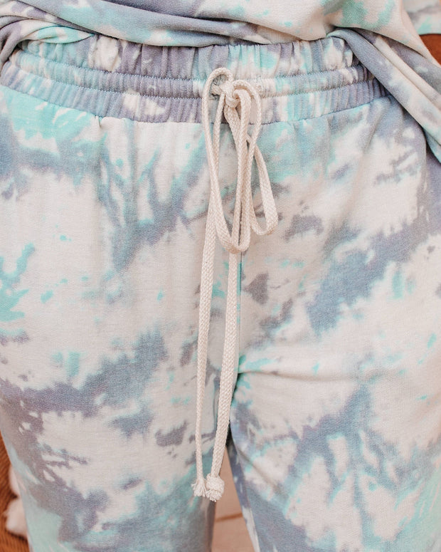 Gravity Pocketed Tie Dye Knit Joggers