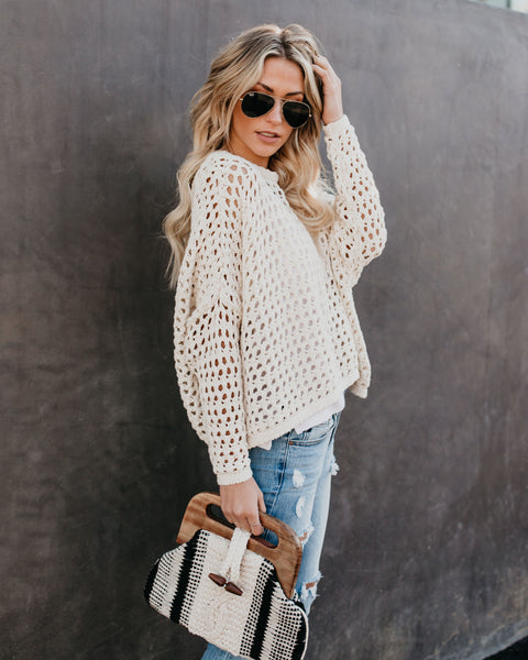 Great Catch Cotton Crochet Sweater