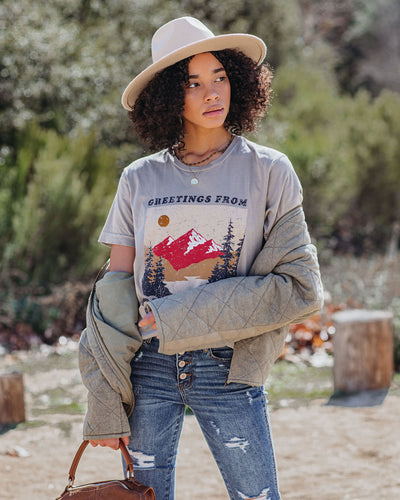 Greetings From Yosemite Cotton Tee