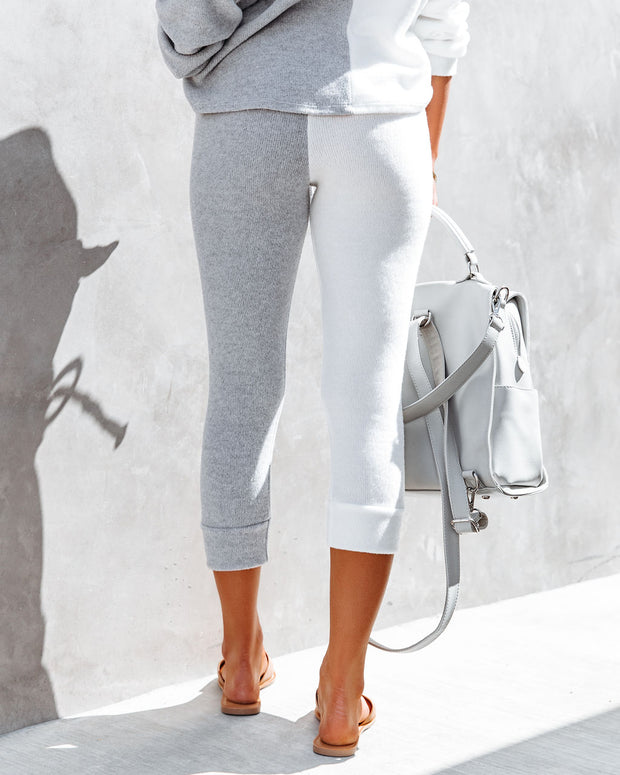 Grey Area Pocketed Colorblock Knit Joggers view 2