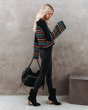 Griffith Striped Crop Knit Sweater - FINAL SALE view 9