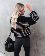 Griffith Striped Crop Knit Sweater - FINAL SALE view 2