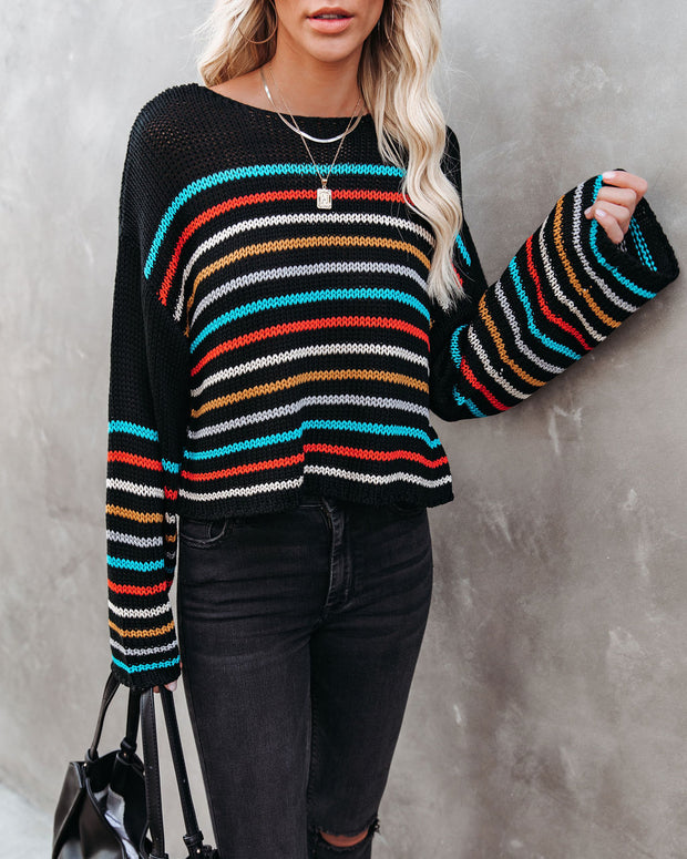 Griffith Striped Crop Knit Sweater - FINAL SALE view 3