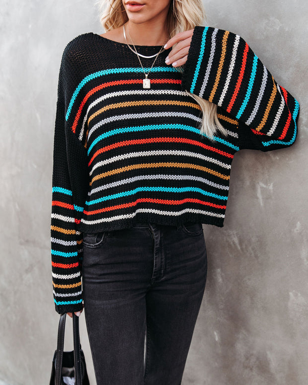 Griffith Striped Crop Knit Sweater - FINAL SALE view 7
