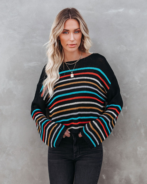 Griffith Striped Crop Knit Sweater - FINAL SALE view 10