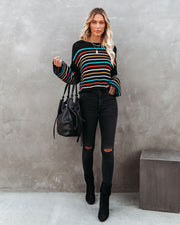 Griffith Striped Crop Knit Sweater - FINAL SALE view 6