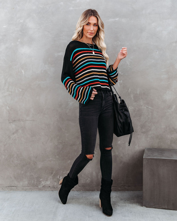 Griffith Striped Crop Knit Sweater - FINAL SALE view 11