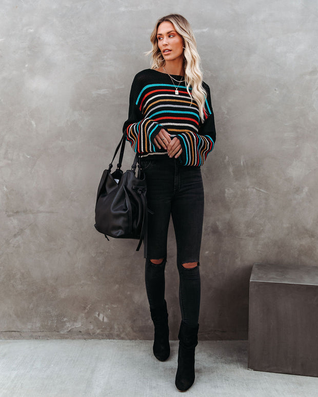 Griffith Striped Crop Knit Sweater - FINAL SALE view 8