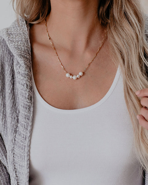 Guide To Success Pearl Bar Necklace