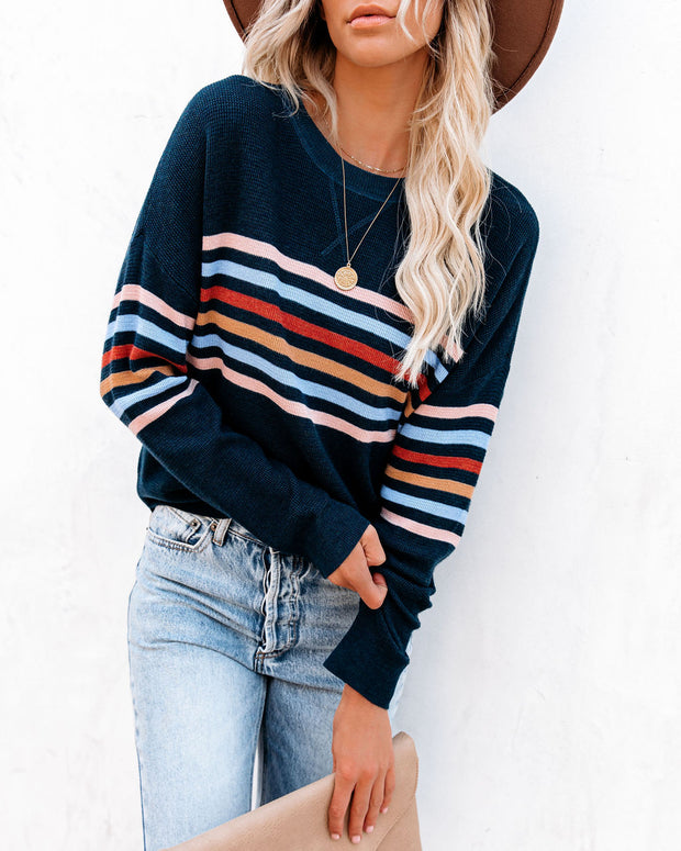 Haider Striped Thermal Knit Top