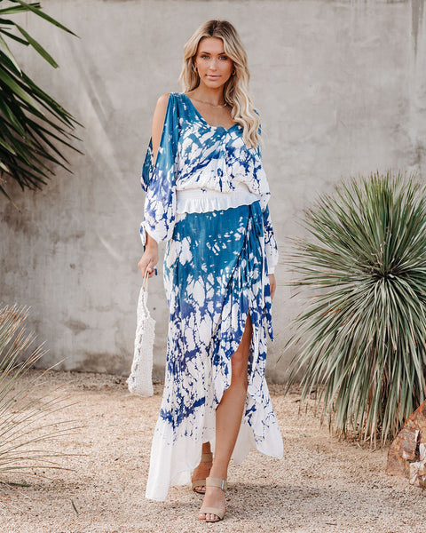Haleiwa Tie Dye Wrap Maxi Skirt   - FINAL SALE