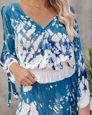 Haleiwa Smocked Tie Dye Cold Shoulder Top - FINAL SALE