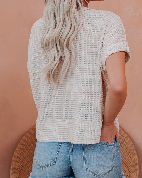 Halsey Short Sleeve Thermal Knit Top