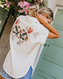 Hamachi Cotton Embroidered Back Top