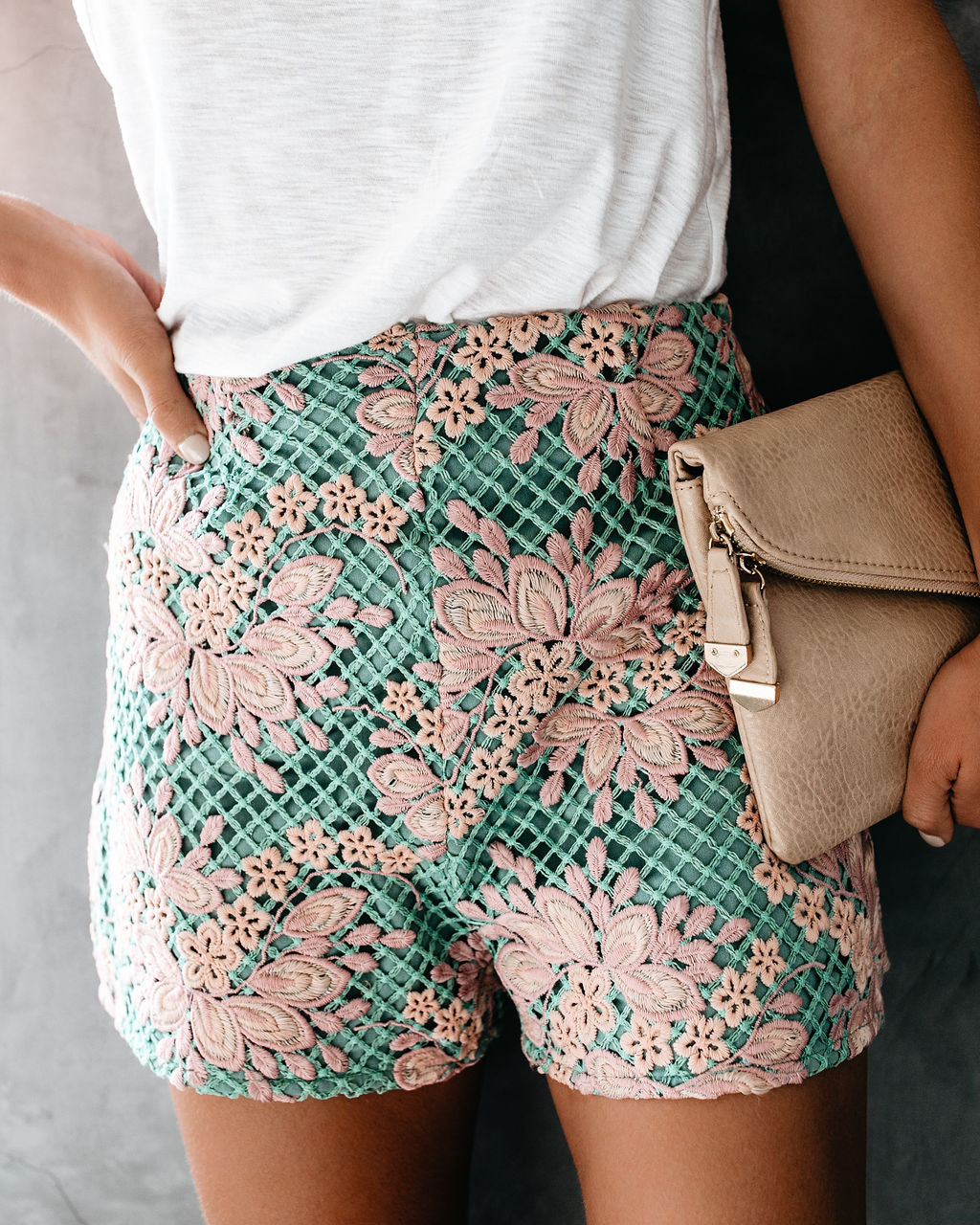 Happily Ever After Crochet Shorts Vici