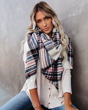 Happy Hollow Plaid Blanket Scarf