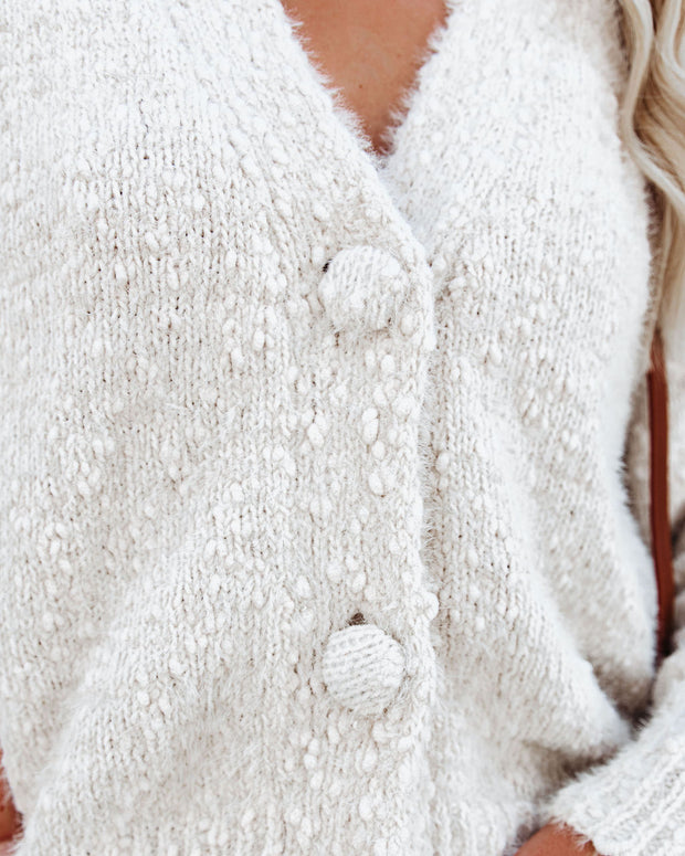 Happy Thoughts Button Front Cardigan - Ivory