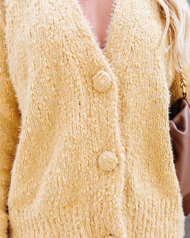 Happy Thoughts Button Front Cardigan - Yellow