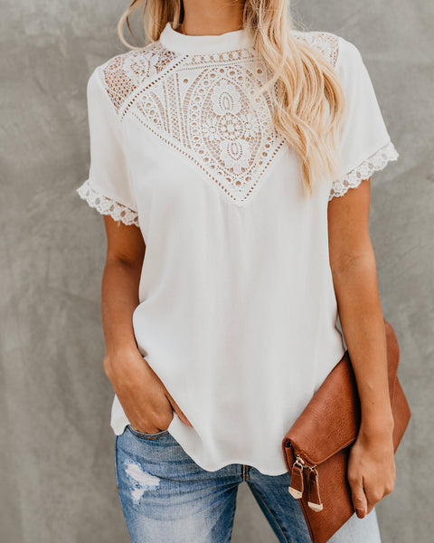 Harmonic Crochet Lace Top