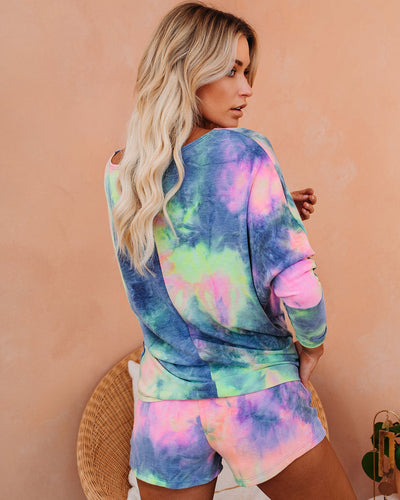 Harmony Pocketed Tie Dye Knit Shorts